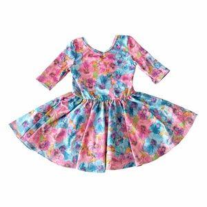 Dot Dot Smile Watercolor Ballerina Twirl Dress